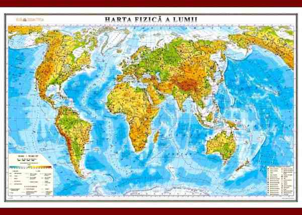 Harta fizica a lumii 3