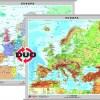 Europa - harta fizica - pe verso: harta politica a Europei 2
