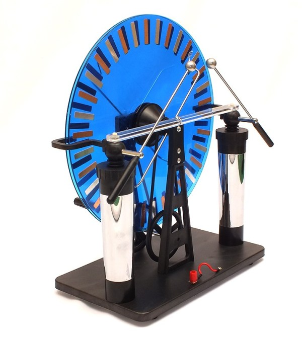 Masina electrostatica Wimshurst 3