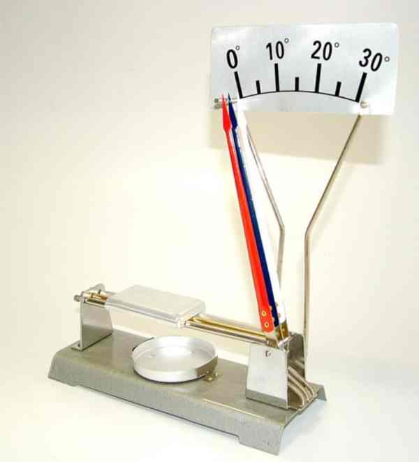 Dispozitiv pentru demonstrarea dilatatiei termice lineare a metalelor 3