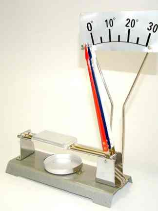 Dispozitiv pentru demonstrarea dilatatiei termice lineare a metalelor