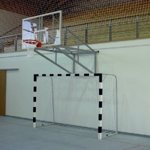 Poarta handbal lemn fixare pe teren 5