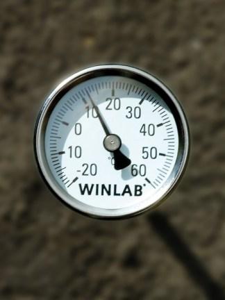 Termometru cu bimetal pentru sol