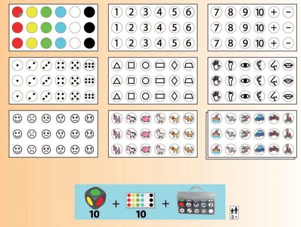 Joc cu zaruri - asociere forma, numar si culoare 7