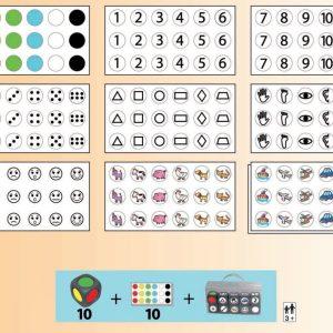 Joc cu zaruri - asociere forma, numar si culoare 12