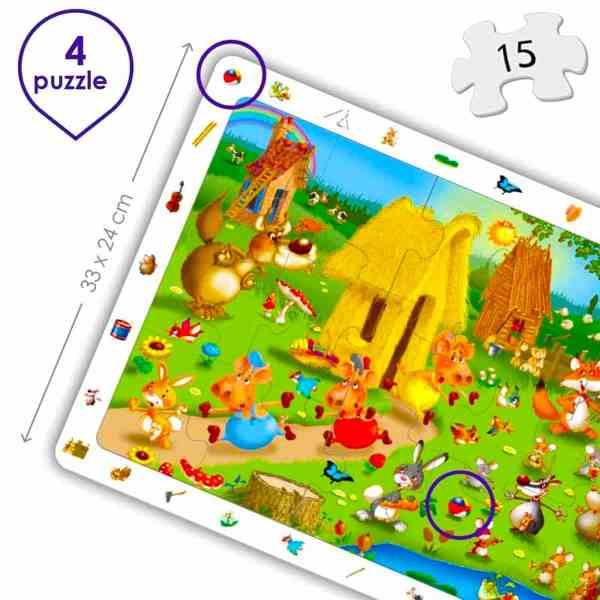 Puzzle 4 in 1 - Povesti Clasice 3