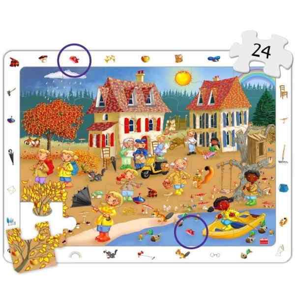 Set puzzle observare - anotimpuri 5
