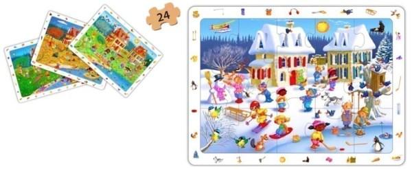 Set puzzle observare - anotimpuri 8