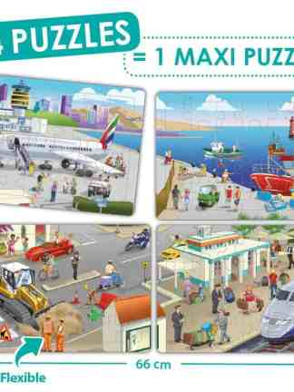 Puzzle 4 in 1 - Orasul meu
