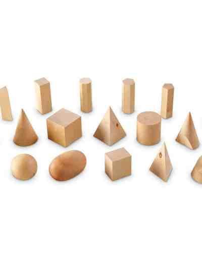 Forme geometrice din lemn (set 19)