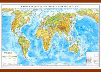 Harta celor mai importante resurse ale lumii