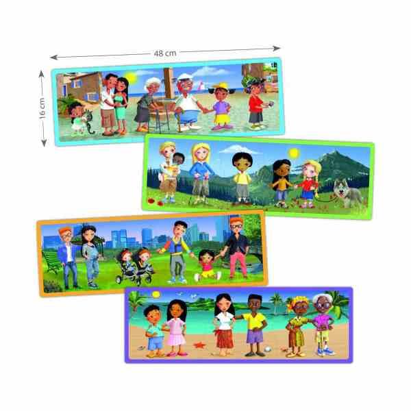 Set puzzle familiile lumii 4