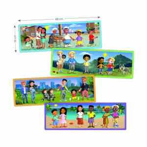 Set puzzle familiile lumii 10