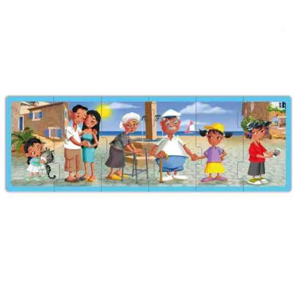 Set puzzle familiile lumii 5