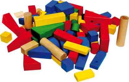 Cuburi colorate din lemn