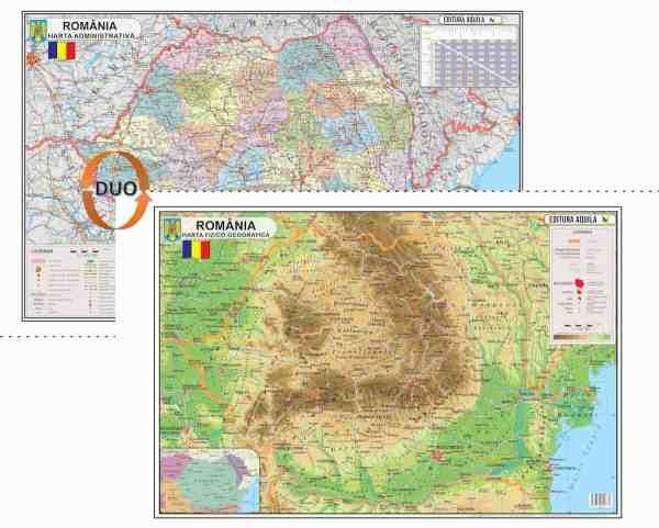 Harta Romania Format 70 x 100 cm 2