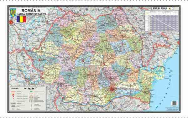 Harta Romania Format 70 x 100 cm 4