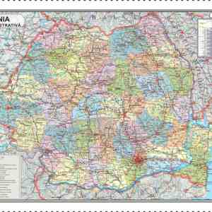 Harta Romania Format 70 x 100 cm 6