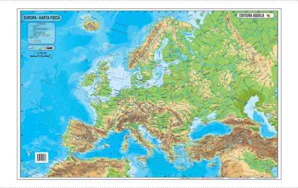 Harta fizica si administrativa a Europei 4