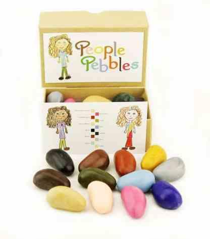 Set creioane de colorat People Pebbles 12 culori