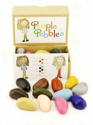 Set creioane de colorat People Pebbles 12 culori