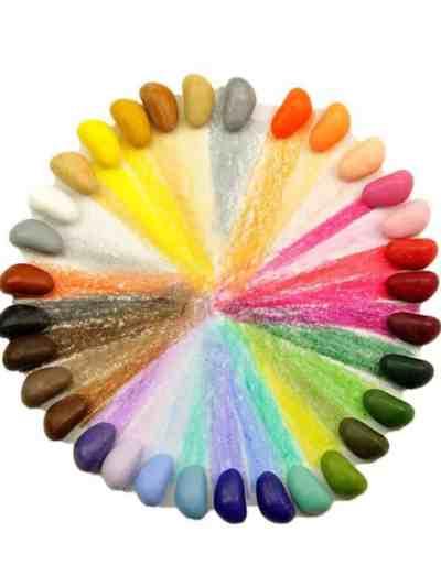 Creioane Naturale cerate in 32 culori primare in forma de pietricele