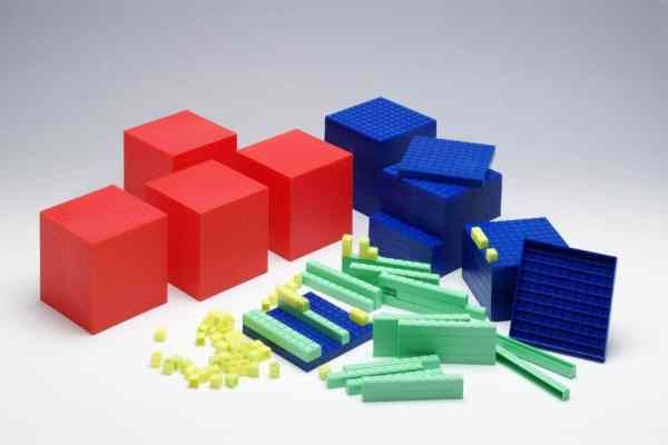 Sistemul zecimal, cuburi in baza 10, set pentru clasa 5