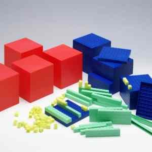 Sistemul zecimal, cuburi in baza 10, set pentru clasa 8