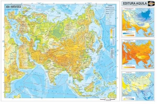 Harta fizica si administrativa Asia 4