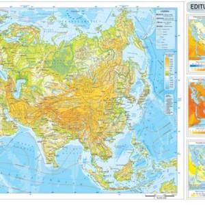 Harta fizica si administrativa Asia 6