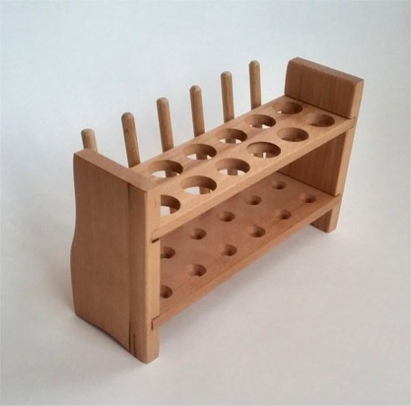 Stativ din lemn pentru 12 eprubete 5
