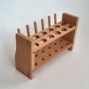 Stativ din lemn pentru 12 eprubete 8