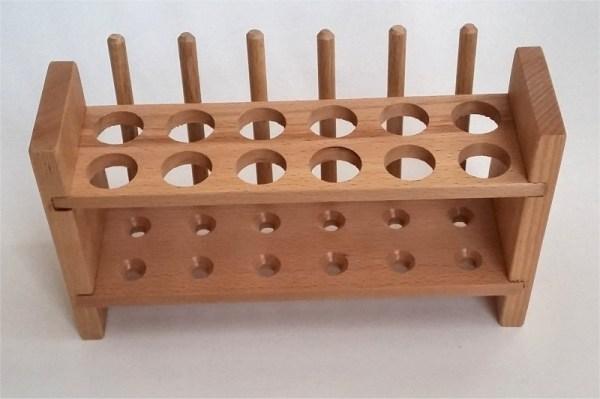 Stativ din lemn pentru 12 eprubete 6