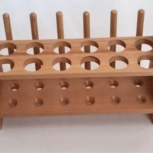 Stativ din lemn pentru 12 eprubete 9