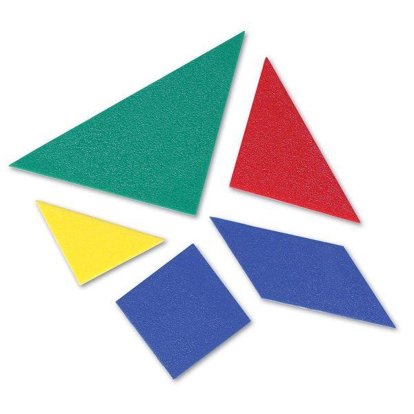 Tangram 4 culori - set pentru Clasa 4