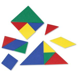 Tangram 4 culori - set pentru Clasa 10