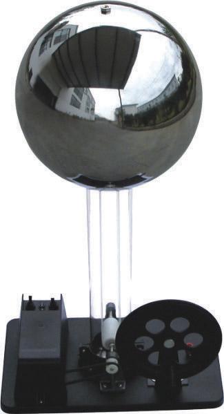 Generator Van de Graaff - actionat manual sau cu motor 2