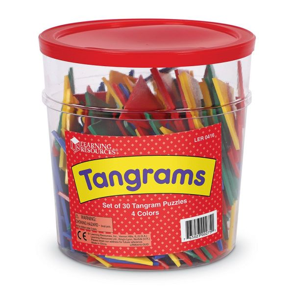 Tangram 4 culori - set pentru Clasa 7