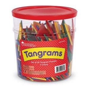 Tangram 4 culori - set pentru Clasa 11