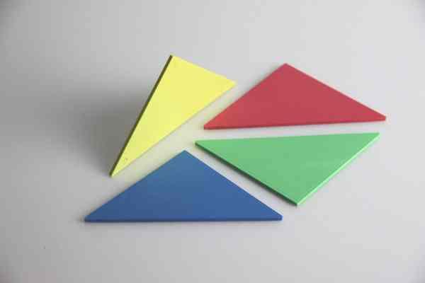 Set Tangram 4 culori, 28 piese 4