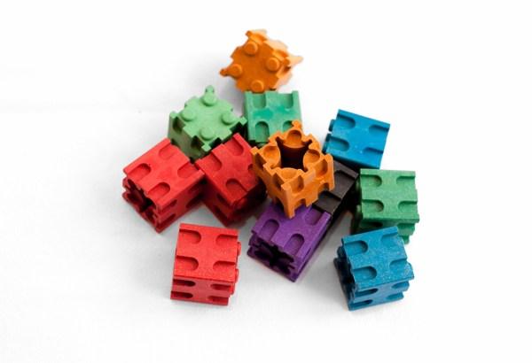 Set cuburi interconectabile - 10 culori 4