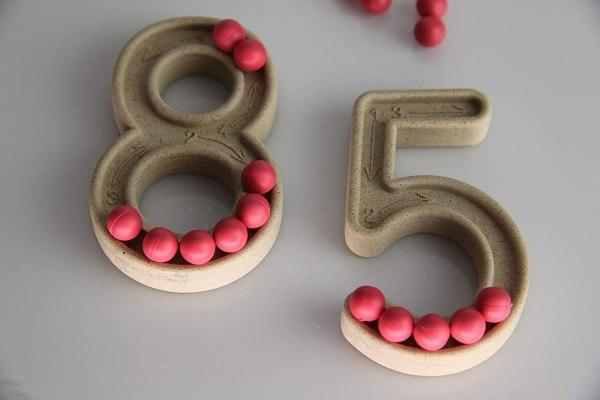 Set trasare cifre cu bilute 4