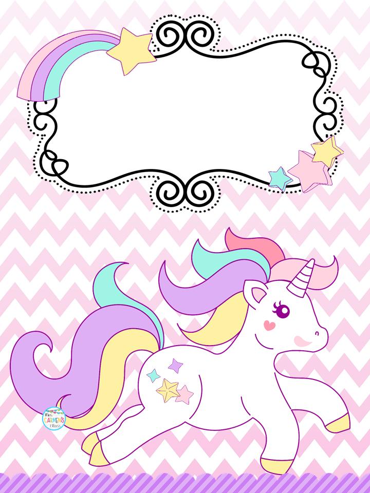 Los mejores dibujos de unicornios para colorear. Bonitas portadas de unicornios | Material Educativo