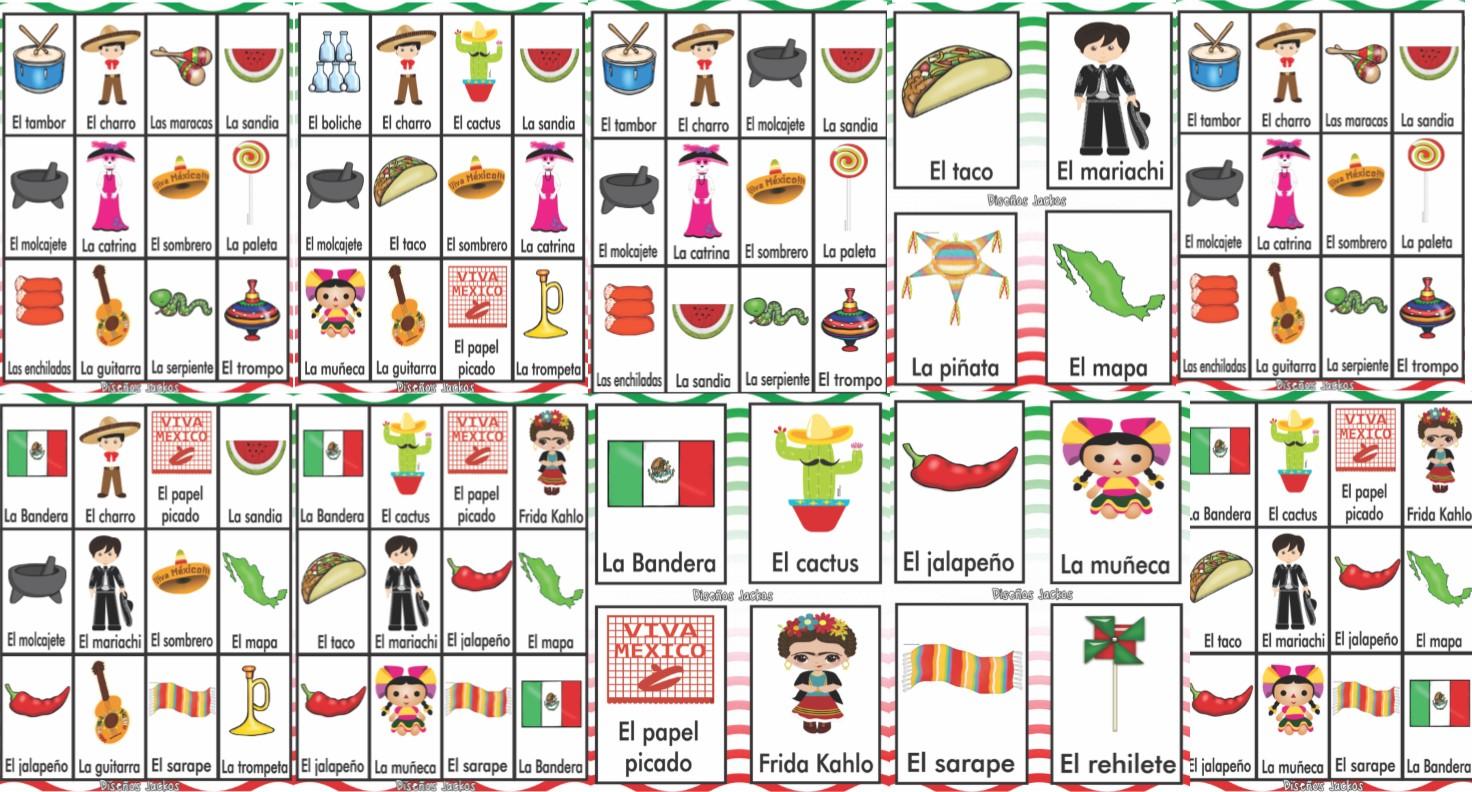 Bandera Mexicana Para Colorear