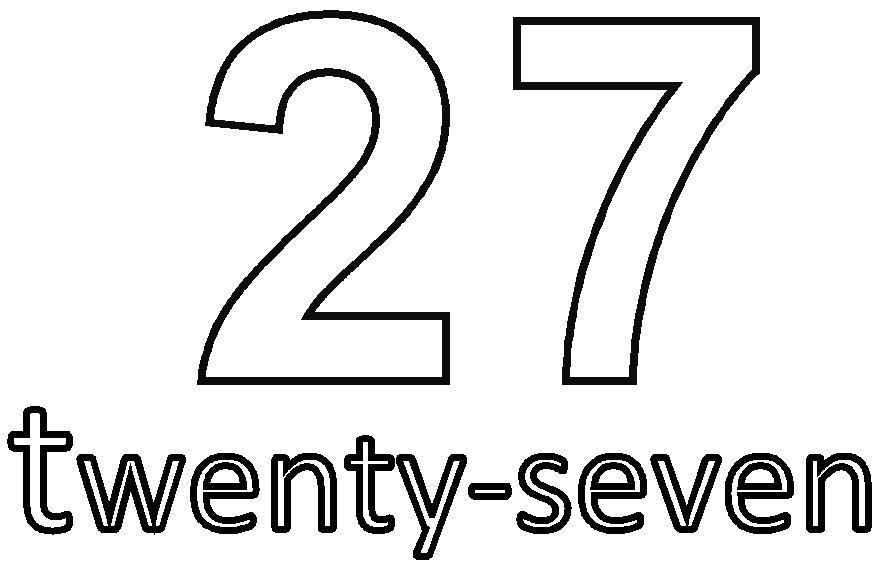 the number 26 Colouring Pages