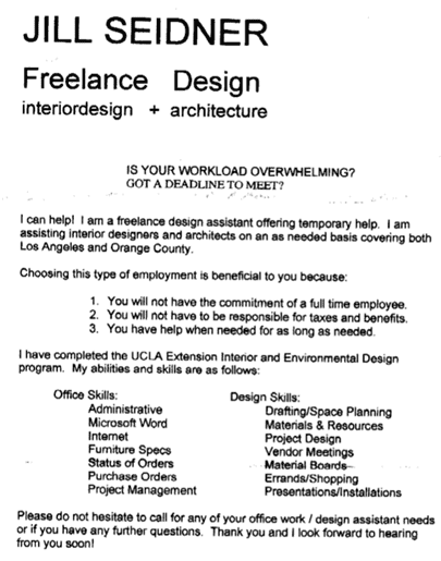 Cover Letter Interior Design