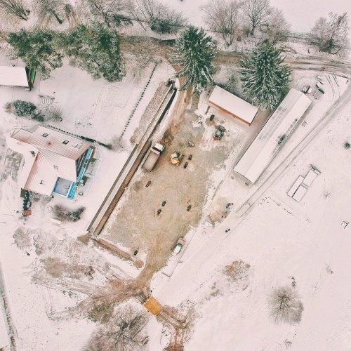 construction site winter