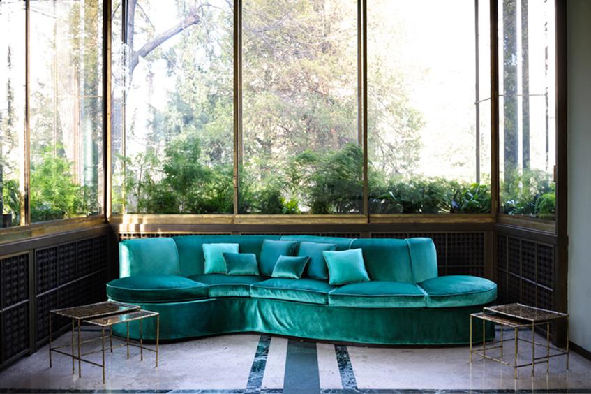 "alt=""Interior design anni 30 -Tessuti Dedar - Villa Necchi Campiglio - Milano"""