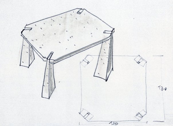 "alt=""bianco-nero-design-agape-tavolo-mangiarotti-incas-schizzo"""