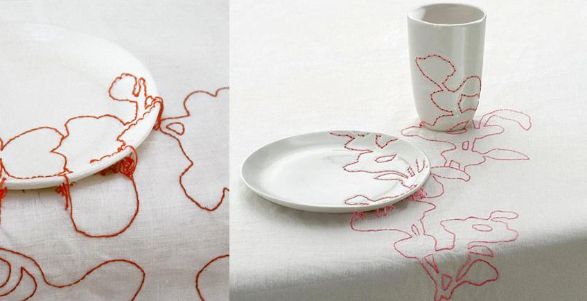 """alt=""""Craft and design - Hella Jongerius - Embroided ceramic"""""""